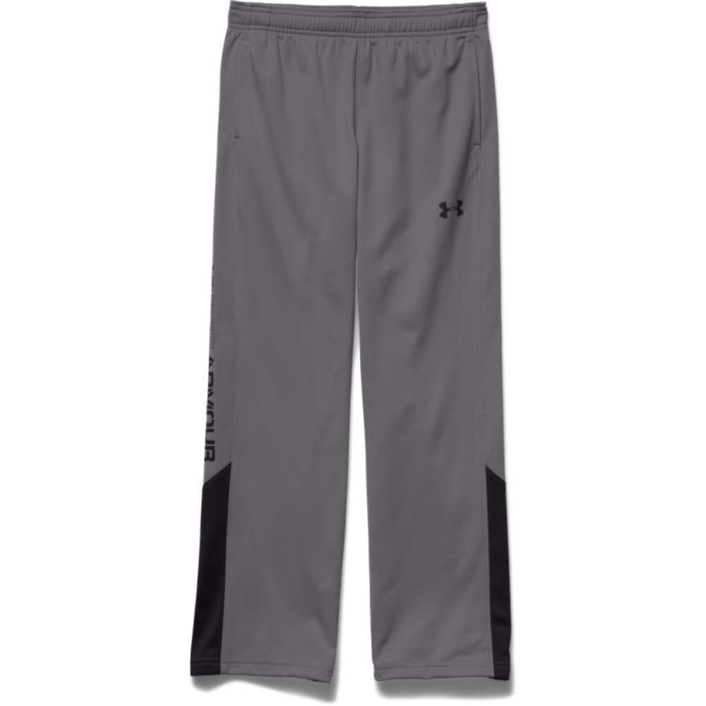 UNDER ARMOUR Boy's Brawler Warm-Up Pants - GRAPHITE/BLACK-040
