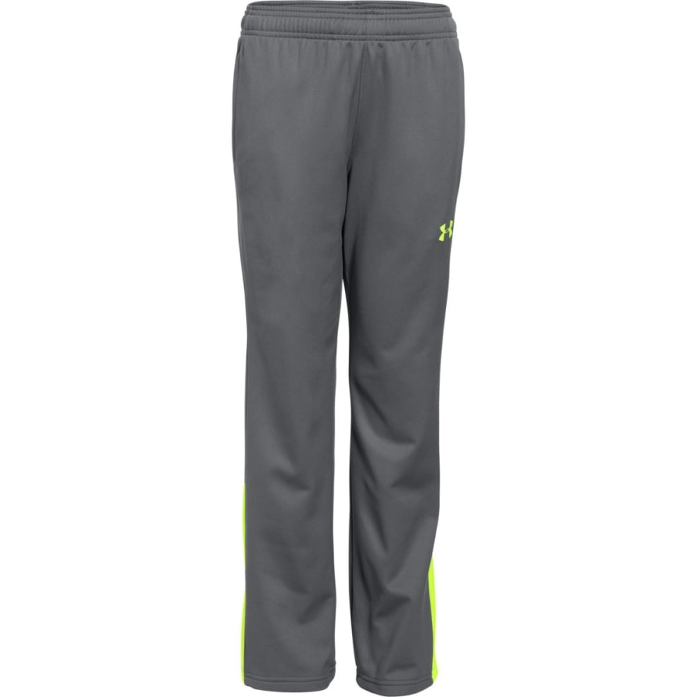 UNDER ARMOUR Boy's Brawler Warm-Up Pants - GRAPH/FUEL GRN-043