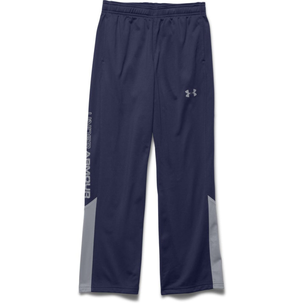 UNDER ARMOUR Boy's Brawler Warm-Up Pants - BLUE KNIGHT/STEEL
