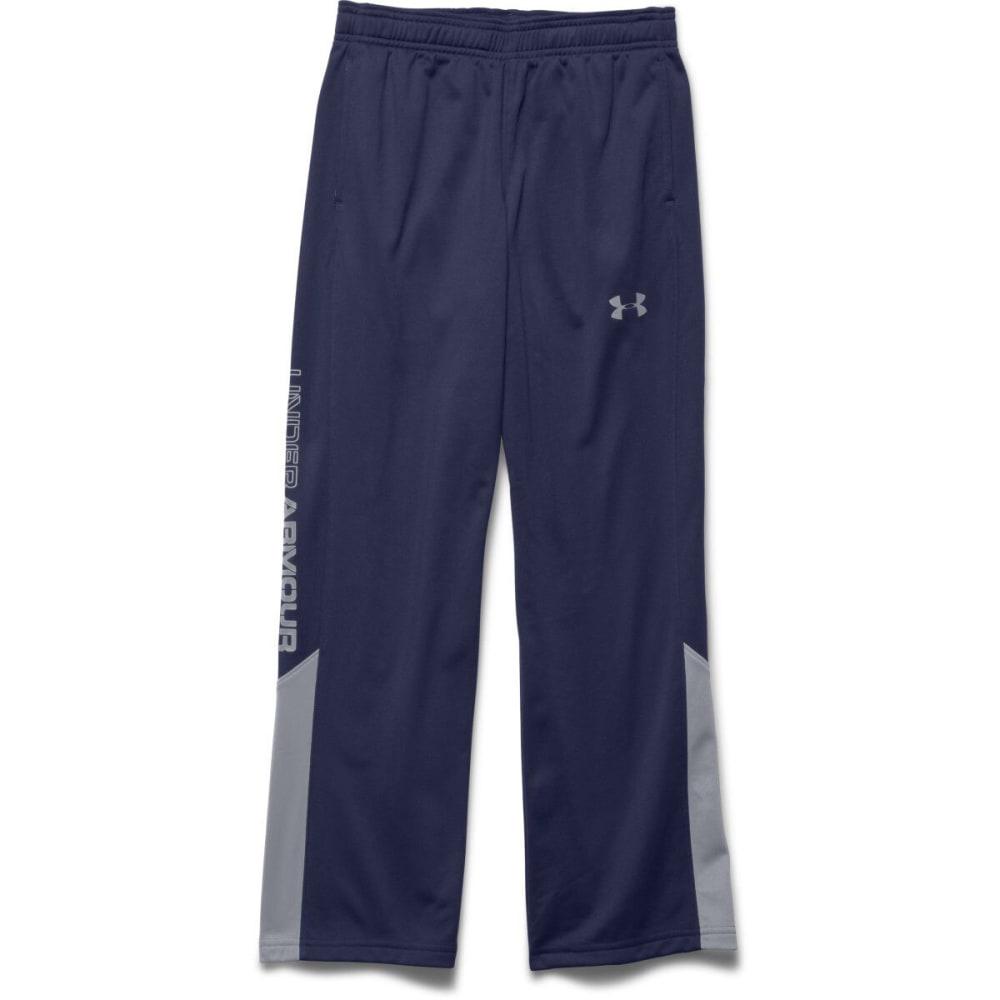 UNDER ARMOUR Boy's Brawler Warm-Up Pants - BLUE KNIGHT/STEEL