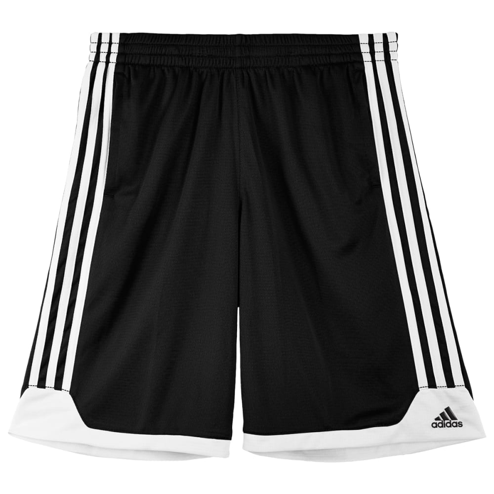ADIDAS Boys' Key Item Shorts - BLACK/WHITE-01