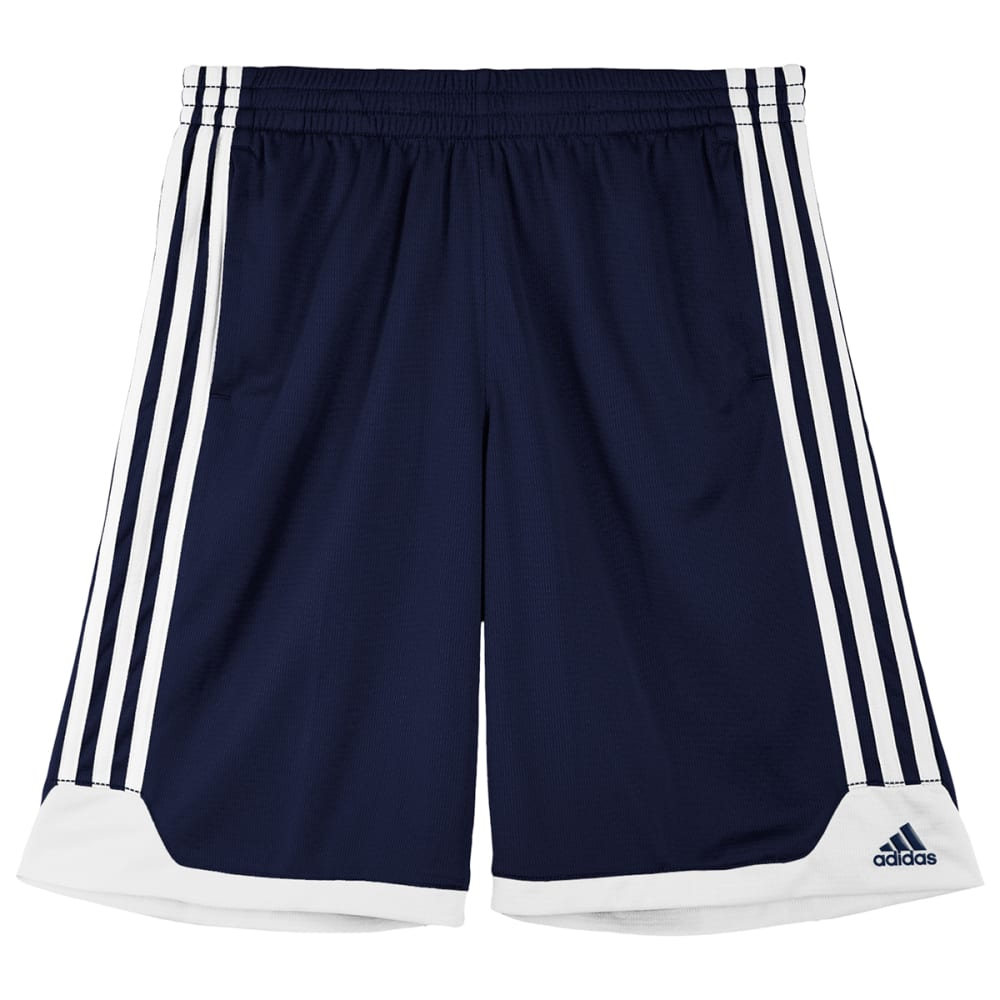 ADIDAS Boys' Key Item Shorts - COLLEGIATE NAVY/WHIT