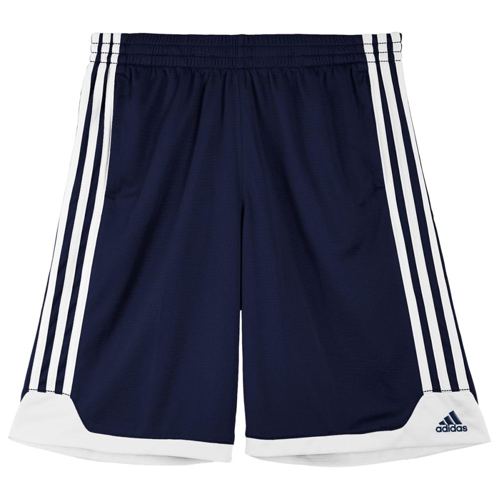 ADIDAS Boys' Key Item Shorts - COLLEGIATE NAVY/WHIT