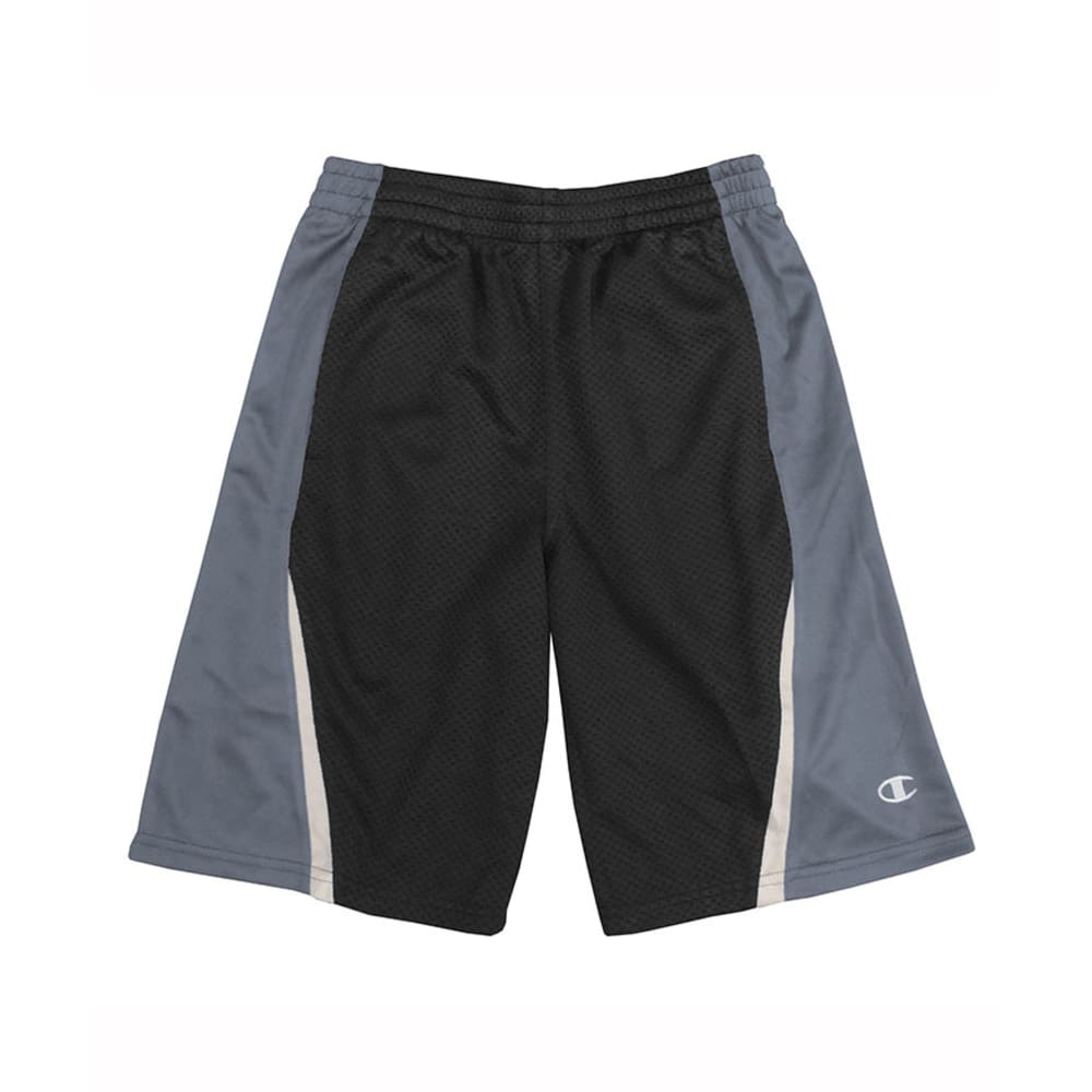 CHAMPION Boys' Fly Shorts - BLACK/SLATE