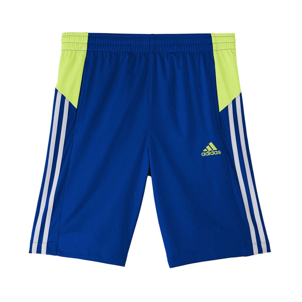 ADIDAS Boys' Poly Interlock Shorts - ROYAL/YELLOW