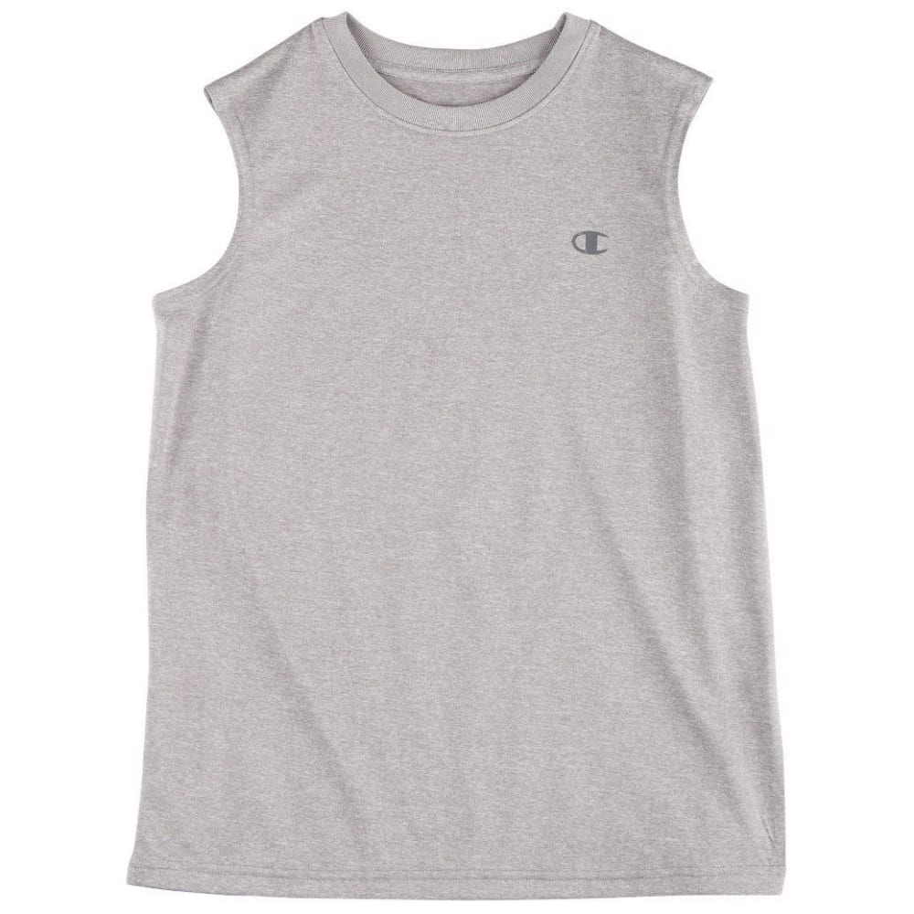 CHAMPION Boys' Heathered Muscle Tech Tee - OXFORD HTHR-OX