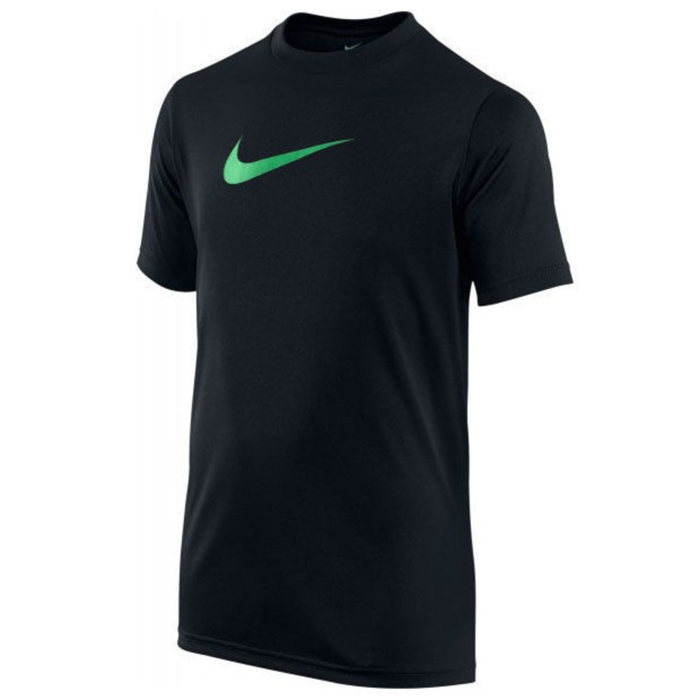 NIKE Boys' Legend Short Sleeve Top - BLACK/SL-020
