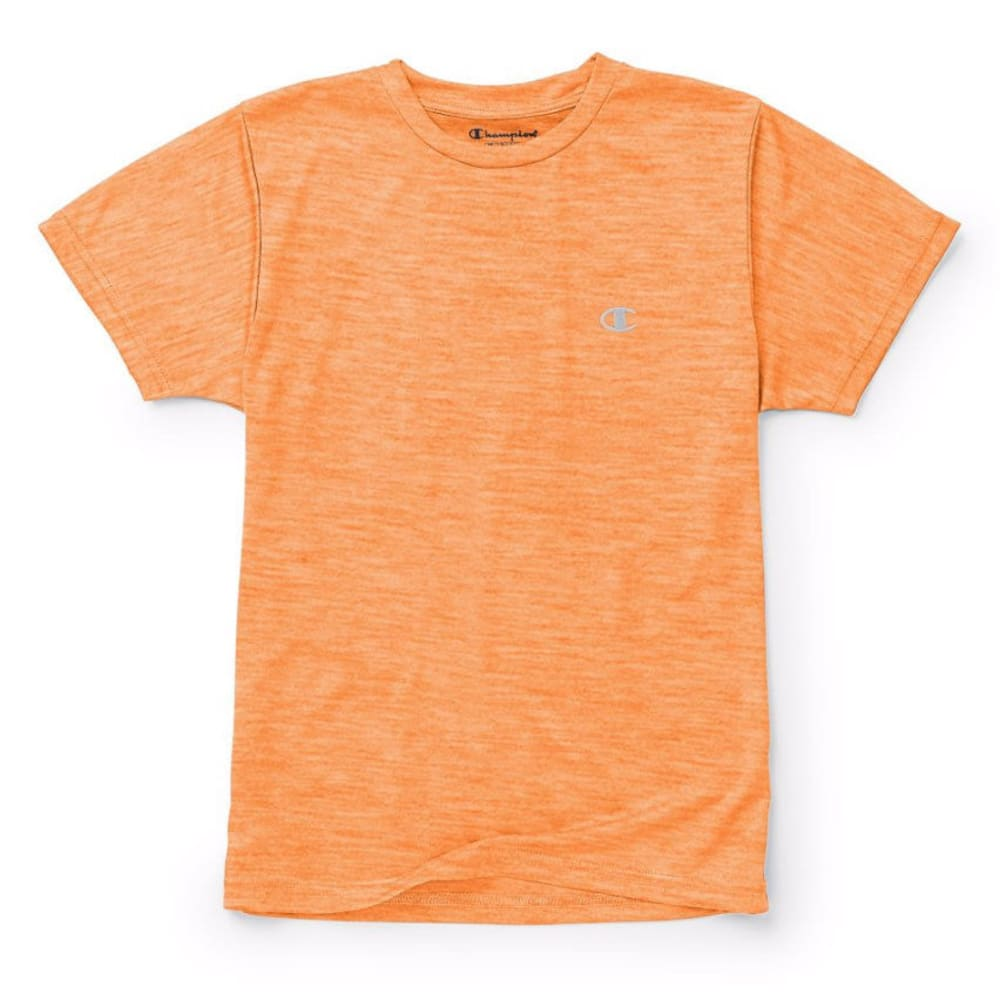 CHAMPION Boys' Power Train Tee - VIBRANT ORNG HTR