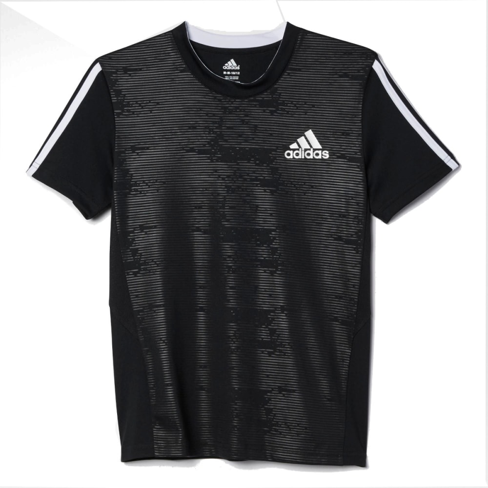 ADIDAS Boys' Embossed Tee - BLACK