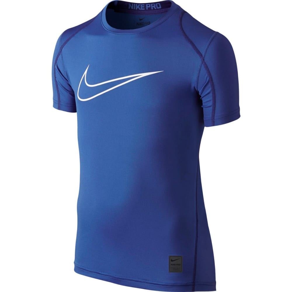 NIKE Boys' Cool HBR Fitted Short Sleeve Top XS