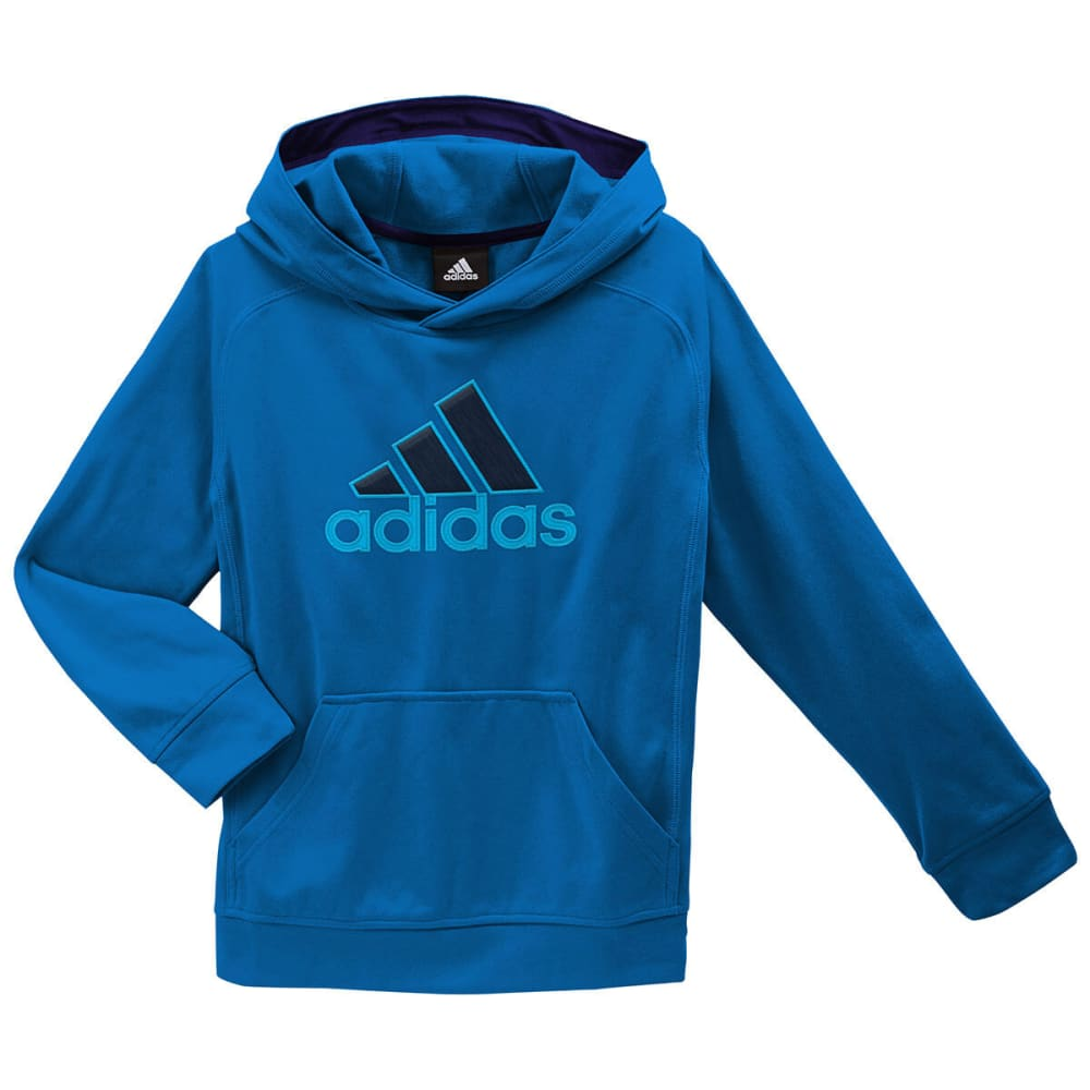 ADIDAS Boys' Tech Fleece Hoodie - BLUE BEAUTY HEATHER