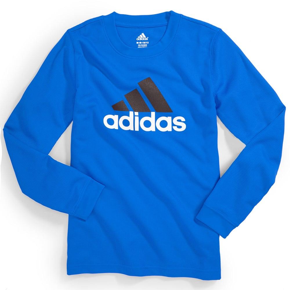 ADIDAS Boys' Long Sleeve Poly Thermal - BLUE/BLACK