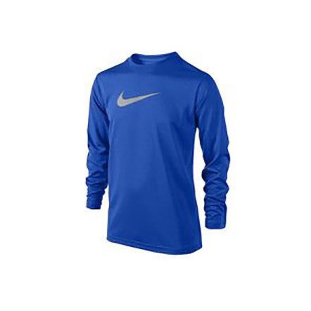 NIKE Big Boys' Legend Long-Sleeve Tee - GAME RYL/GRY-409