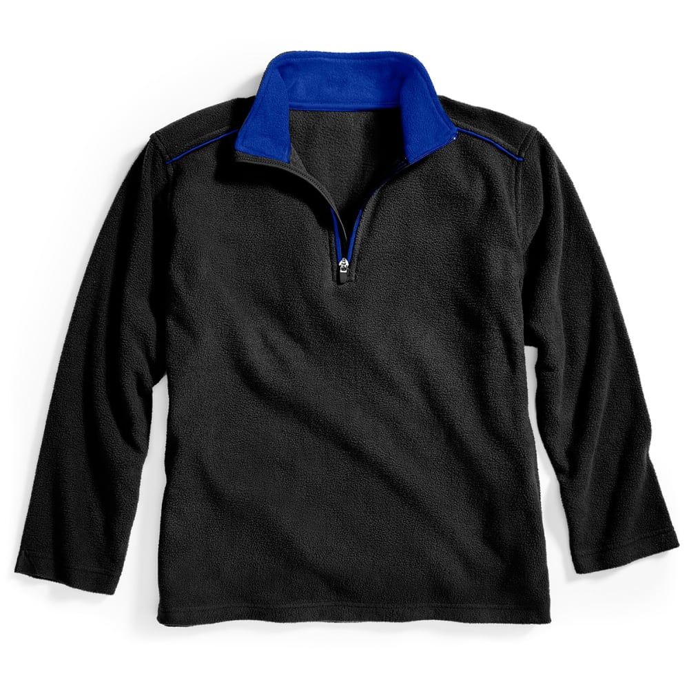 CHEETAH Boys' Active Fleece - BLACK/SAMBA BLUE