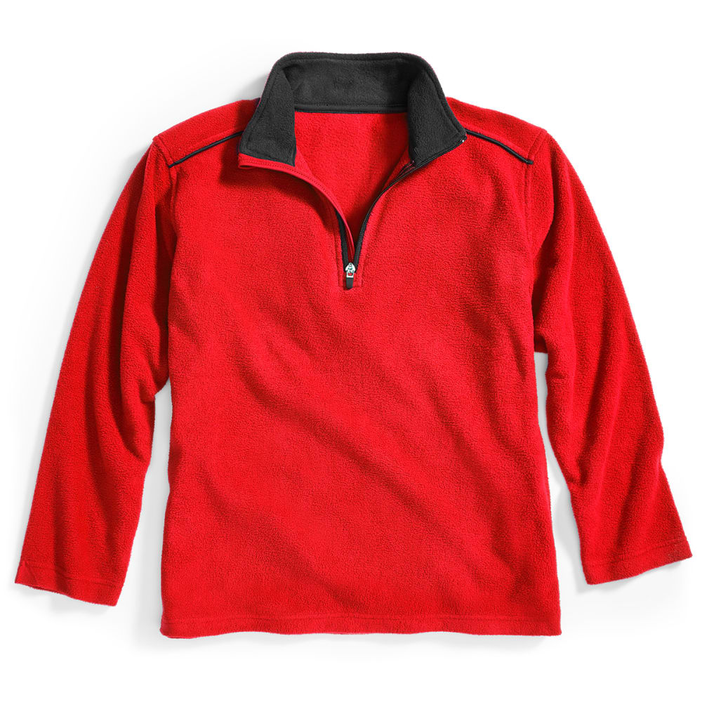 CHEETAH Boys' Active Fleece - RISK RED/BLACK