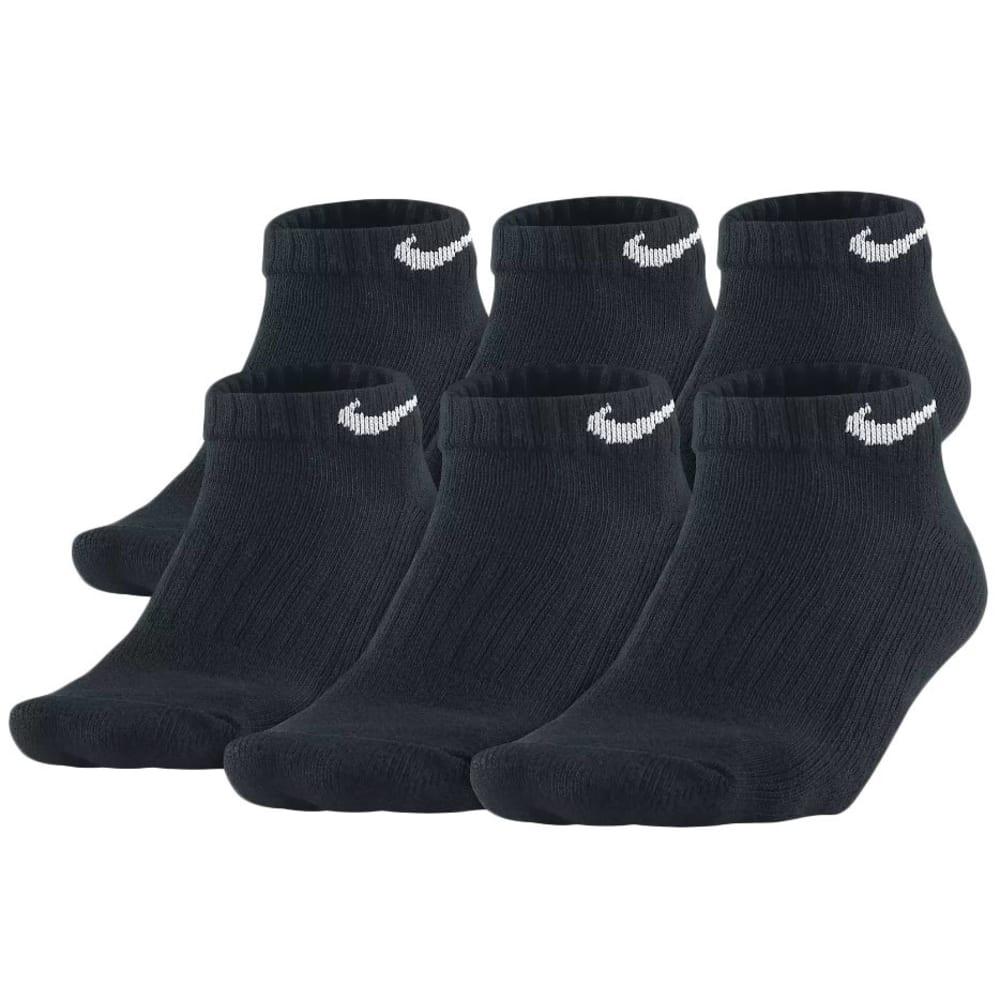 NIKE Big Boys' Performance Low-Cut Socks, 6-Pack - BLACK 001 SX4457