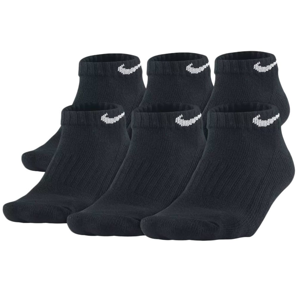 NIKE Big Boys' Performance Low-Cut Socks, 6-Pack - BLACK001 SX4458