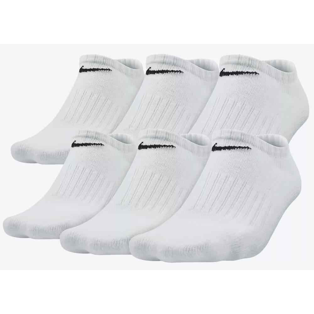 NIKE Kids' Performance No-Show Socks, 6 Pairs 6-8.5