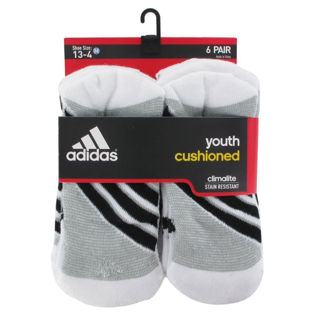ADIDAS Youth Graphic Crew Socks, 6-Pack - WHITE 5124764