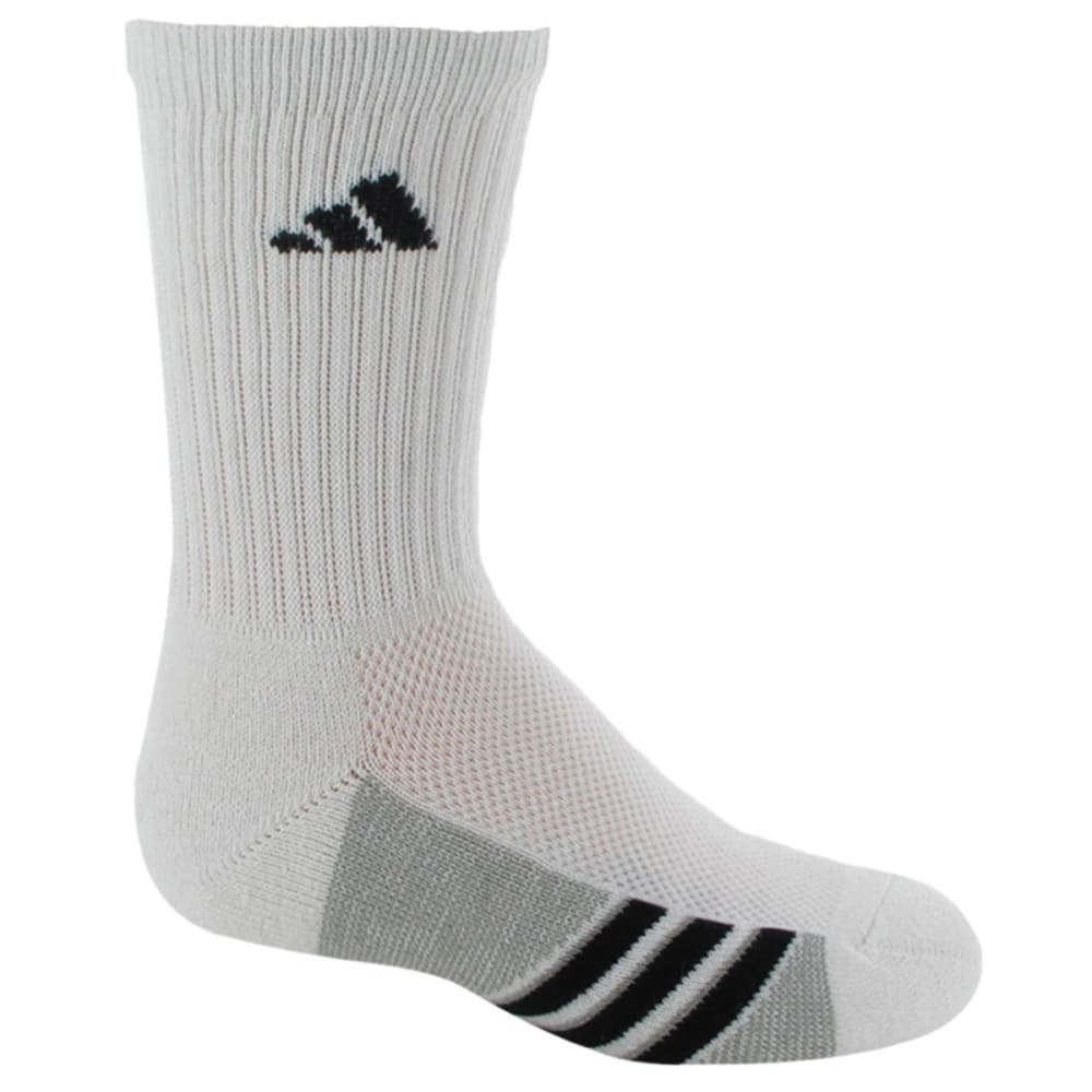 ADIDAS Youth Graphic Crew Socks, 6-Pack - WHITE 5125157