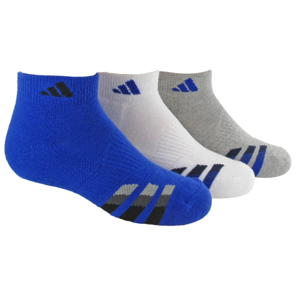 ADIDAS Youth Cushion Low Cut Socks, 3-Pack - BOLD BLUE 5136145