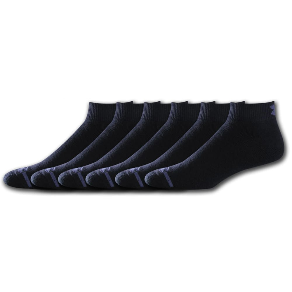 UNDER ARMOUR Youth Charged Cotton® Lo Cut Socks, 6-Pack - BLACK