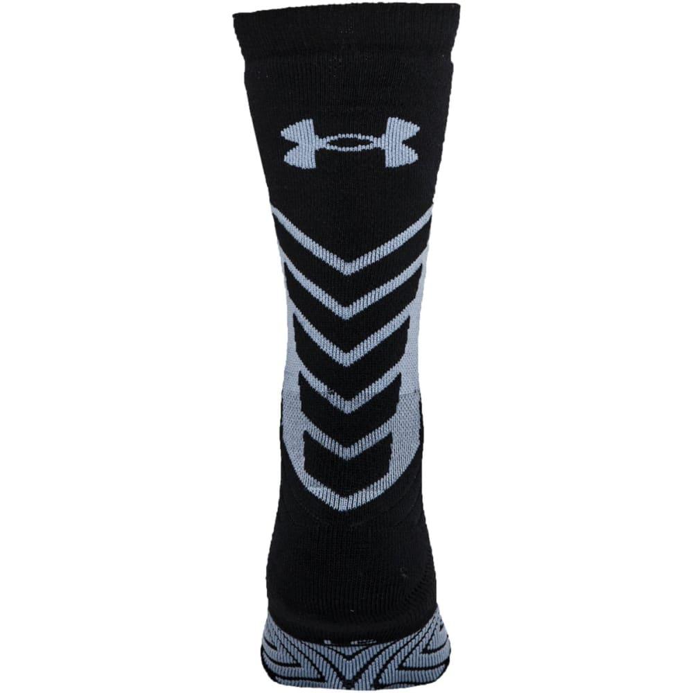 UNDER ARMOUR Youth Undeniable Crew Socks - BLACK/GREY