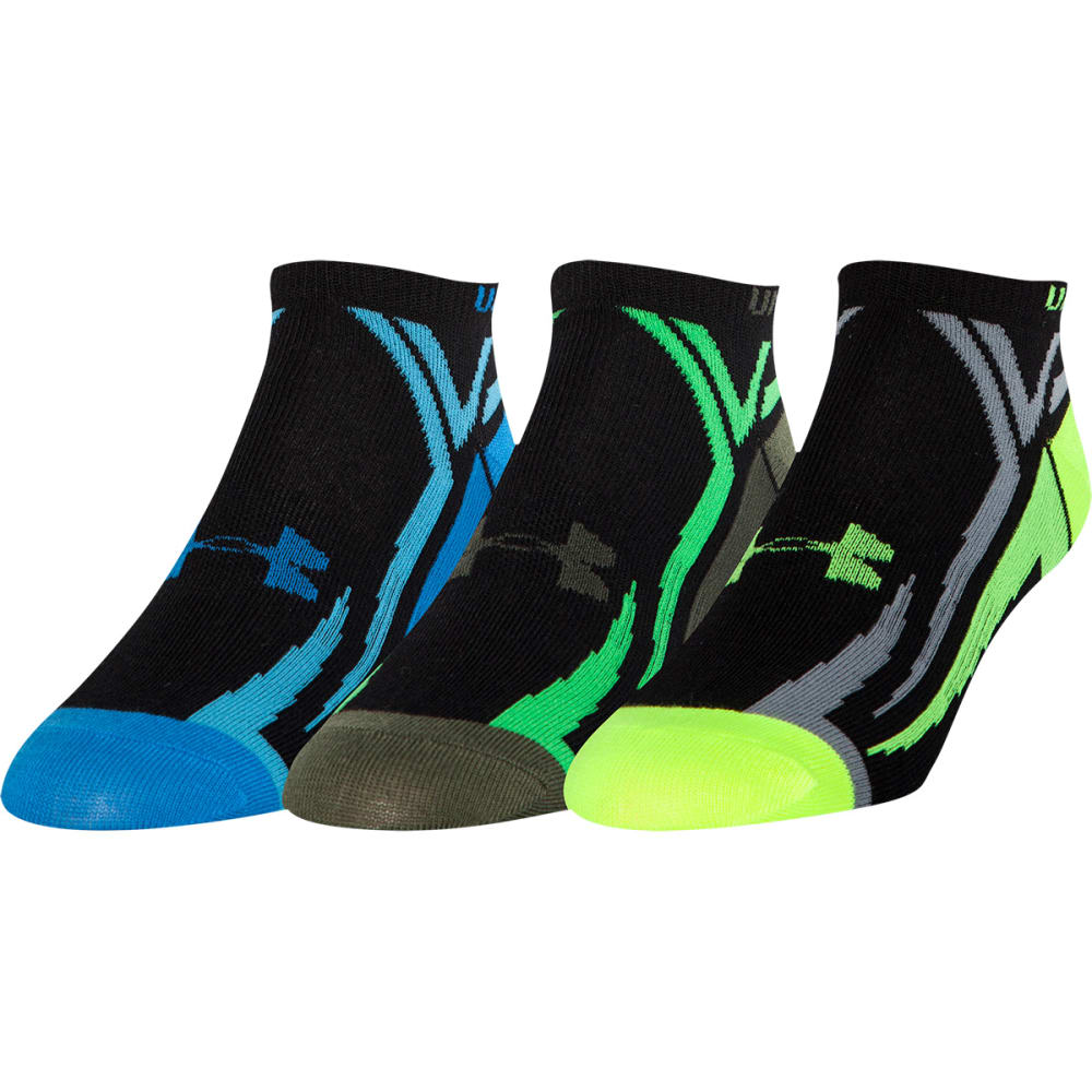 UNDER ARMOUR Boys' Phantom No Show Socks 2-Pack - ONYX