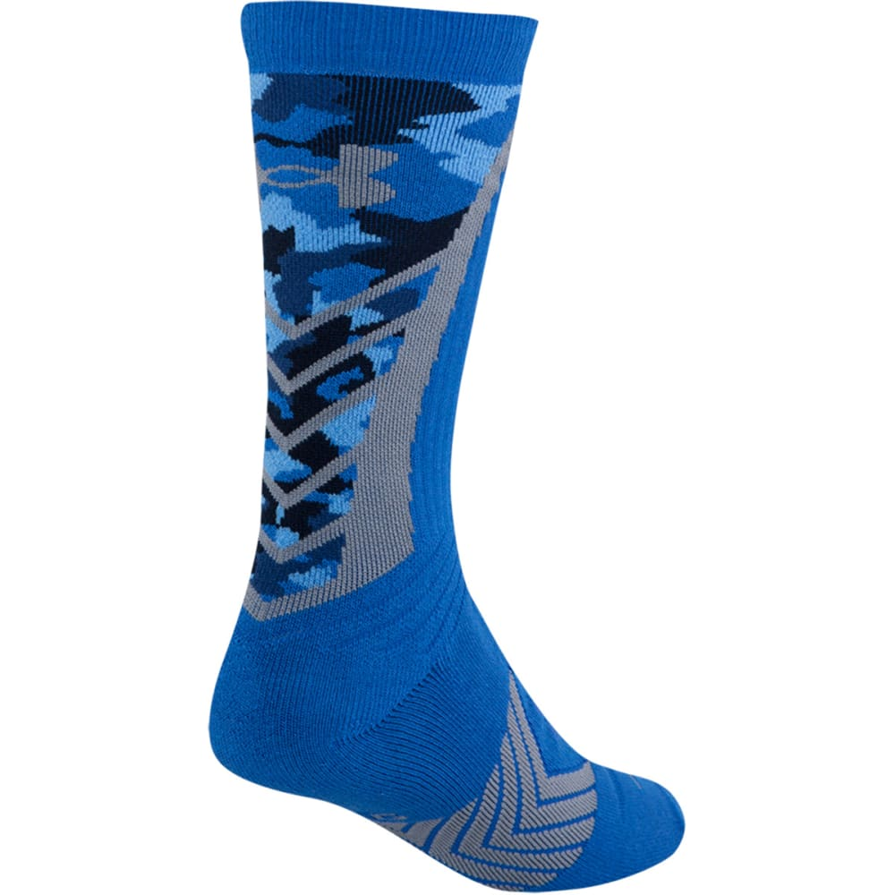 UNDER ARMOUR Boys' Undeniable Camo Socks - BLUE JET/BLACK