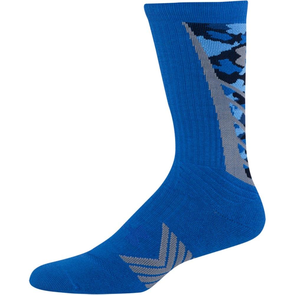 UNDER ARMOUR Boys' Undeniable Camo Socks - BLUE JET/BLACK