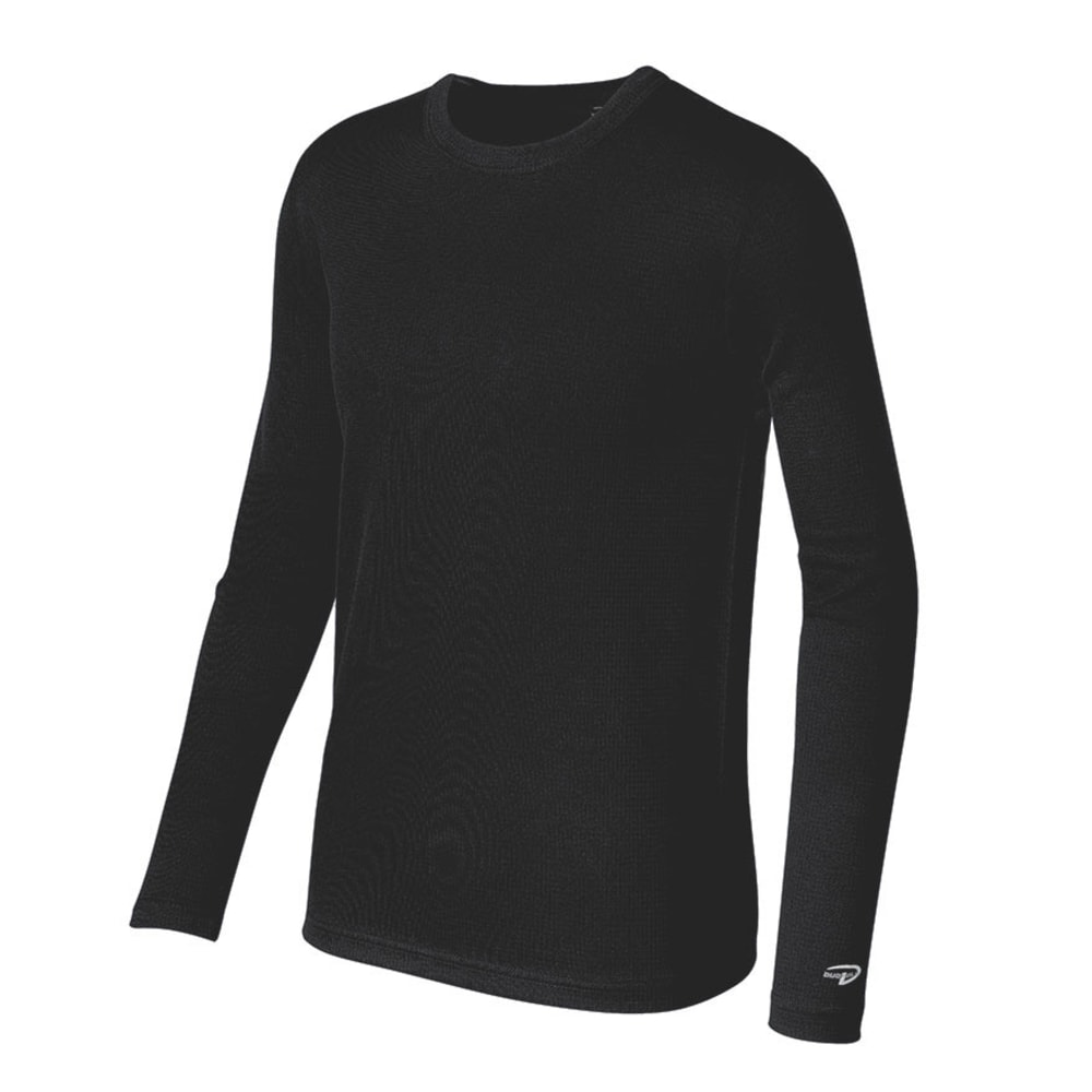 DUOFOLD Youth First Layer Base-Weight Crew Top, L/S - BLACK