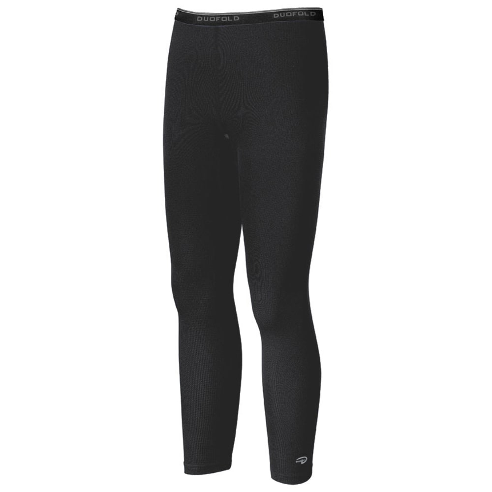 DUOFOLD Kids' Base Layer Ankle Length Bottoms - BLACK