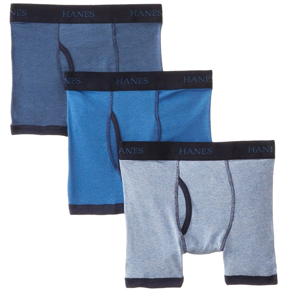 HANES Boys' Classics Ringer Boxer Briefs, 3-Pack - ASSORTED
