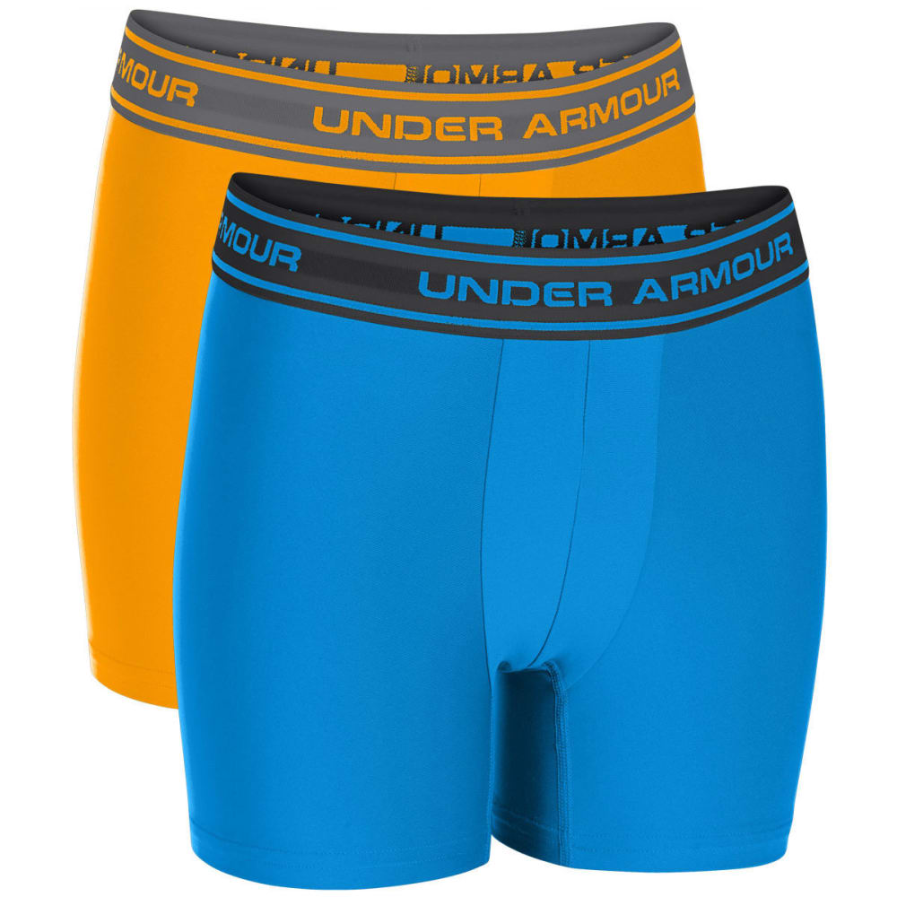UNDER ARMOUR Boys' HeatGear® Performance Boxerjock® Boxer Briefs,  2-Pack - ELECTRIC BLUE