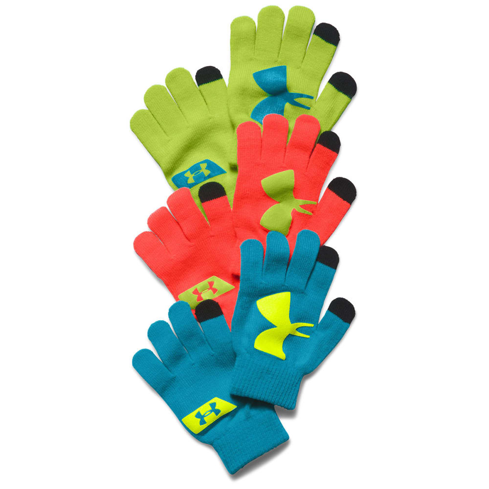 UNDER ARMOUR Kids' Chillz Neon Gloves 3-Pack - HEATHER STONE