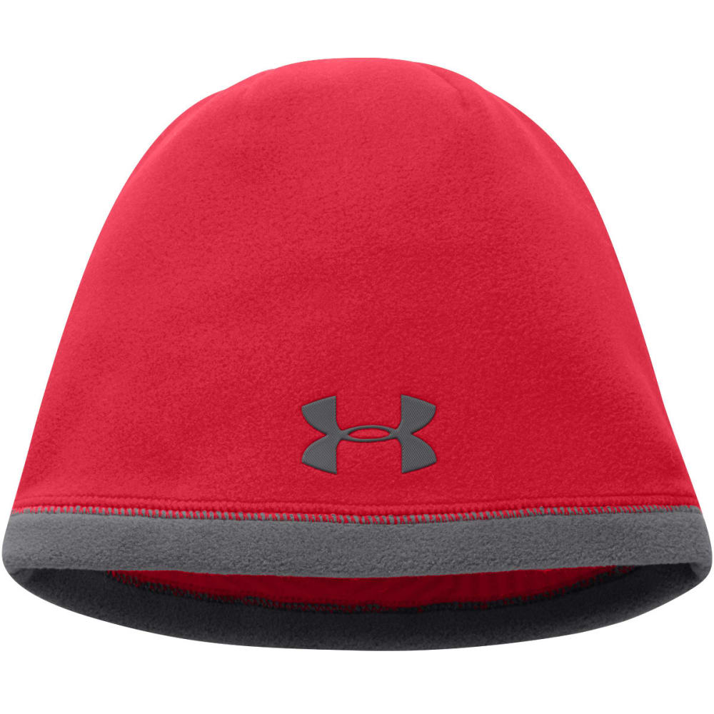 UNDER ARMOUR Boys' Storm ColdGear® Infrared Elements Beanie - RED/GRAPHITE