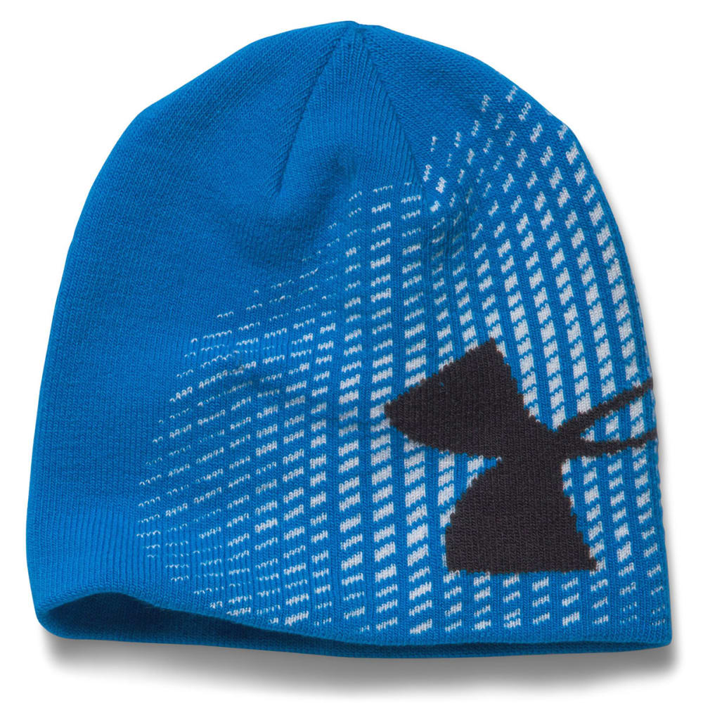 UNDER ARMOUR Boys' Billboard Glow-In-the-Dark Beanie - BLUE JET/BLACK