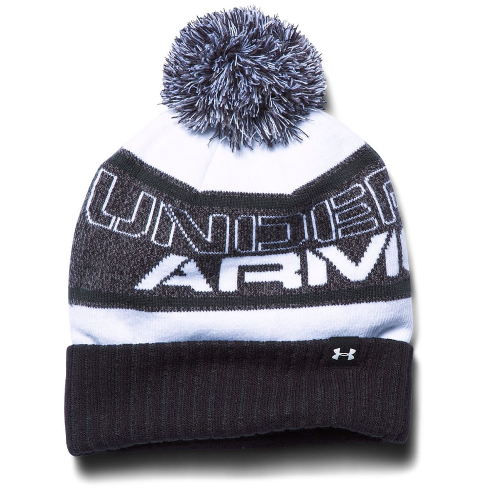 UNDER ARMOUR Boys' Pom Beanie - BLACK