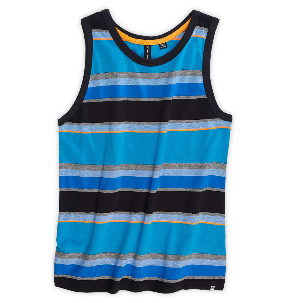 OCEAN CURRENT Boys' True Blue Striped Tank - TRUE BLUE