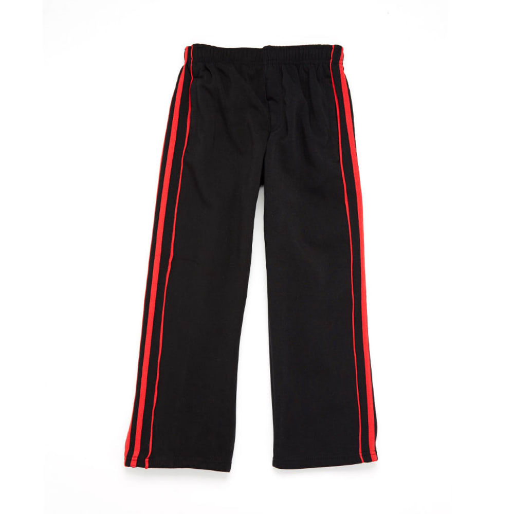 NBN GEAR Boys' Side Stripe Fleece Pants  - BLACK RED