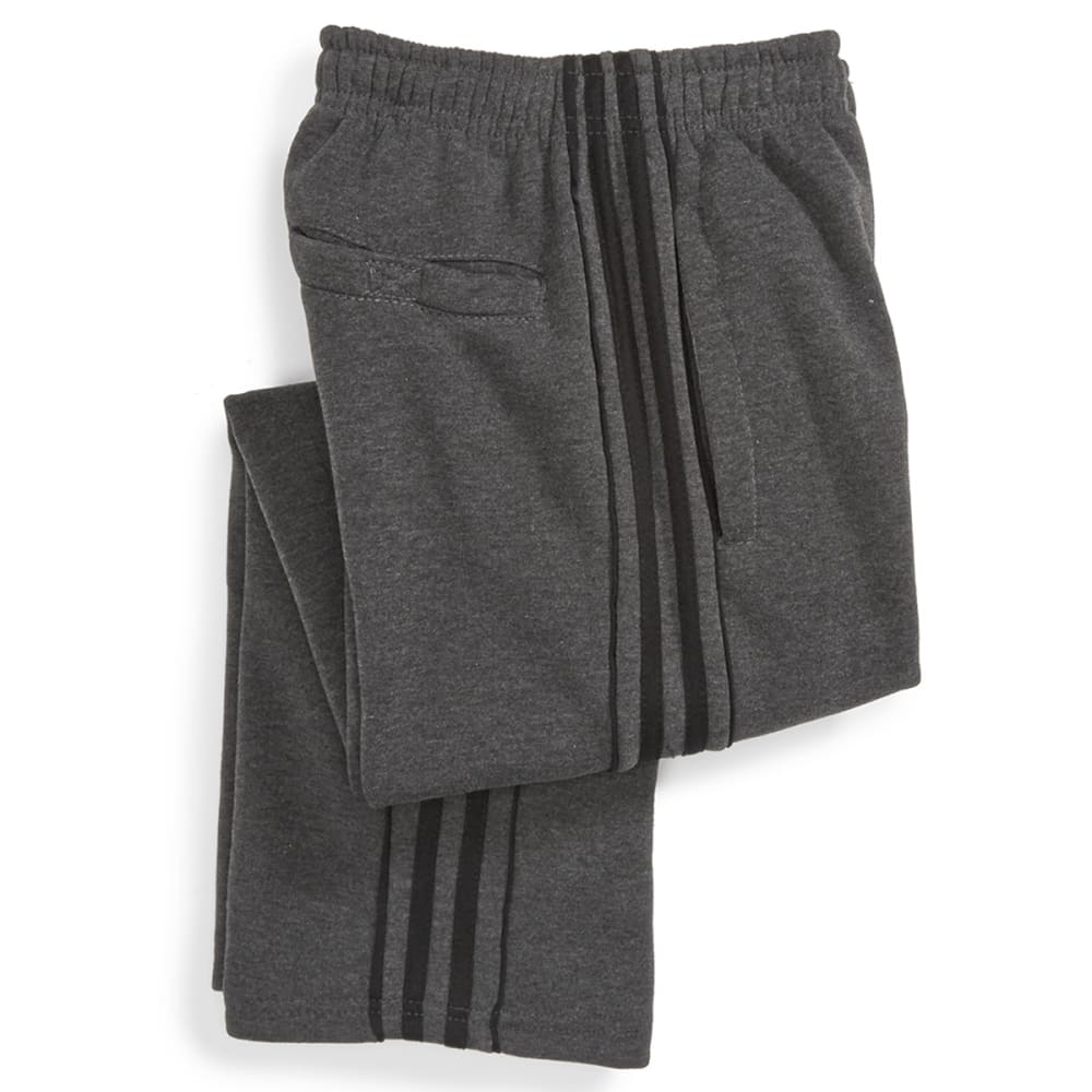 NOTHING BUT NET Boys' Side Stripe Tricot Fleece Pants - CHARCOAL/BLACK