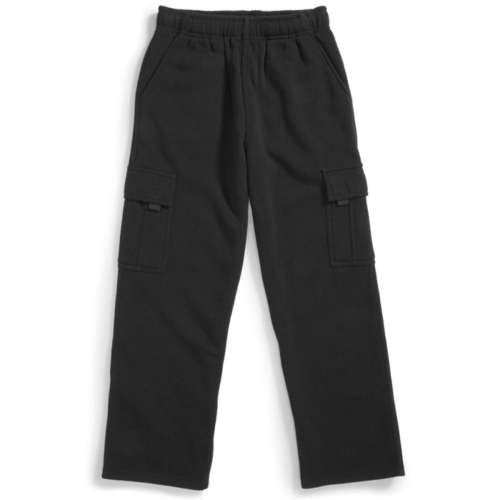 NOTHING BUT NET Boys' Fleece Cargo Pants - BLACK