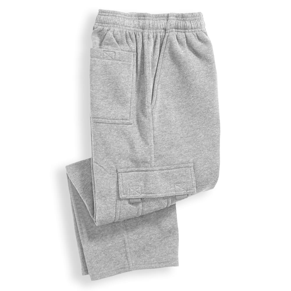 NOTHING BUT NET Boys' Fleece Cargo Pants - LIGHT GREY HEATHER