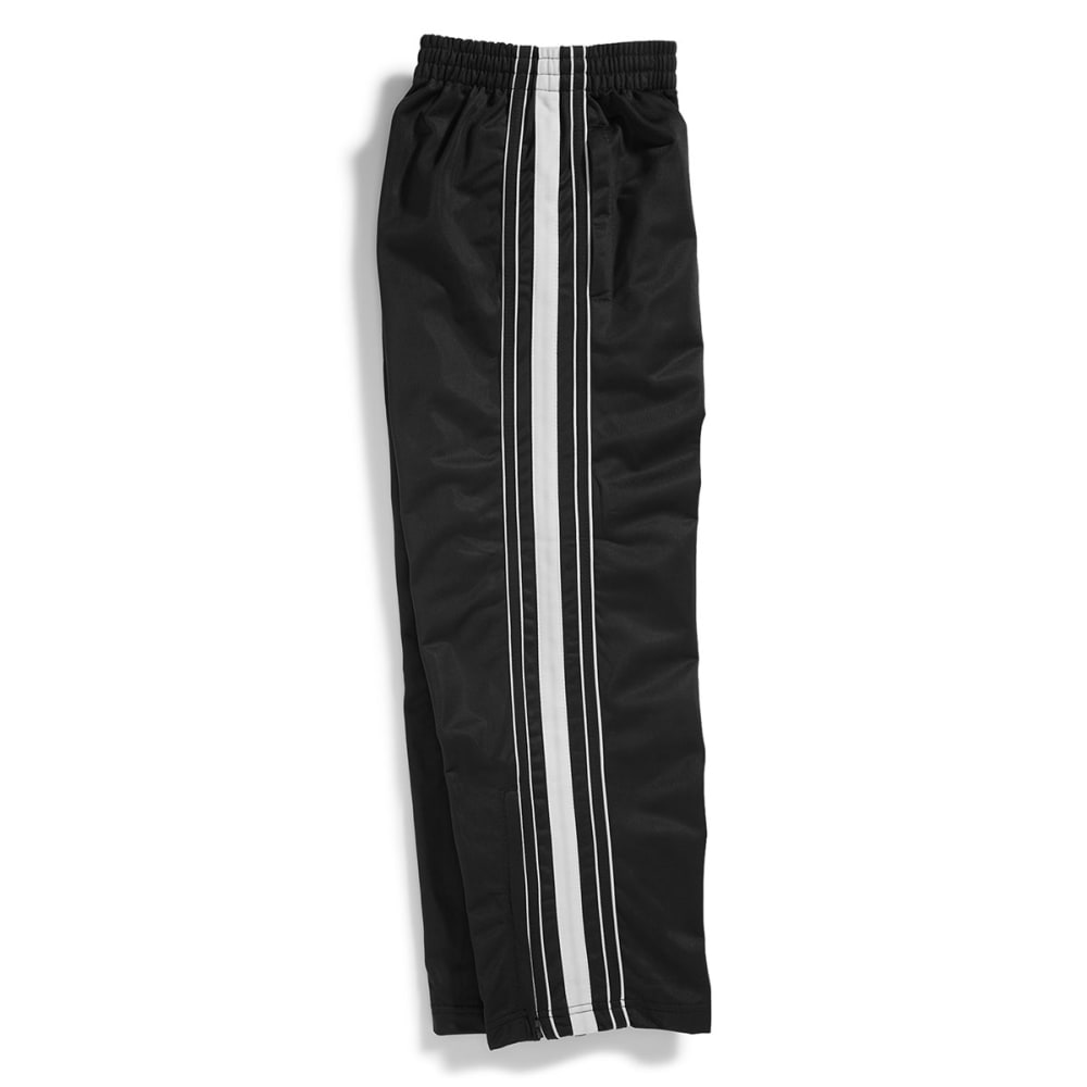 NOTHING BUT NET CLOTHING Boys' Tricot Side Stripe Pants - BLACK/WHITE