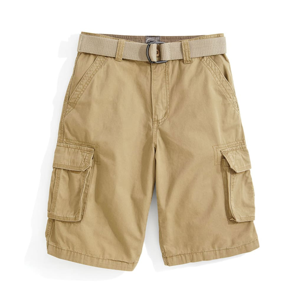 D55 Boys' Solid Belted Cargo Short -  BLOWOUT - CAMEL