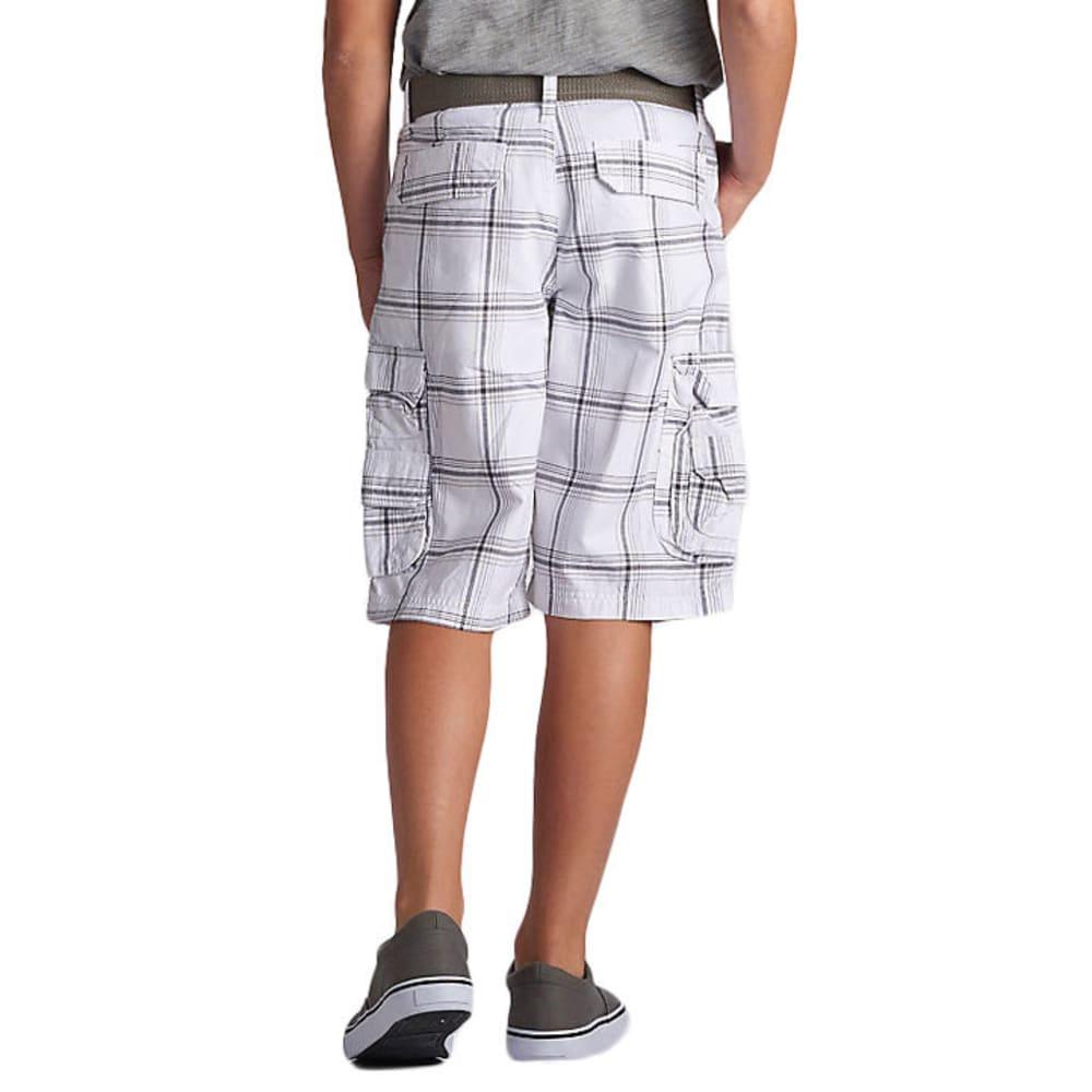 LEE Boys' Wyoming Yarn-Dye Plaid Cargo Shorts - WHT FINN PLAID-0756