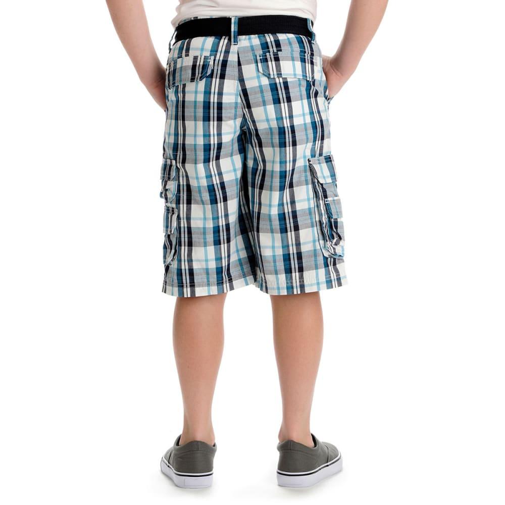 LEE Boys' Wyoming Plaid Cargo Shorts - BLUE