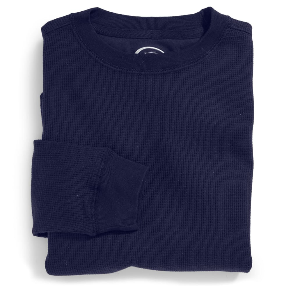 D55 Boys' Solid Thermal Crew - NAVY