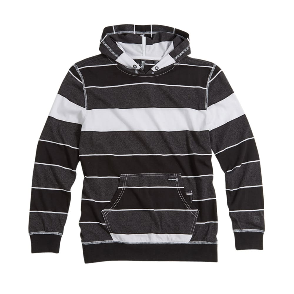 OCEAN CURRENT Boys' Showcase Jersey Popover Hoodie BLOWOUT - BLACK