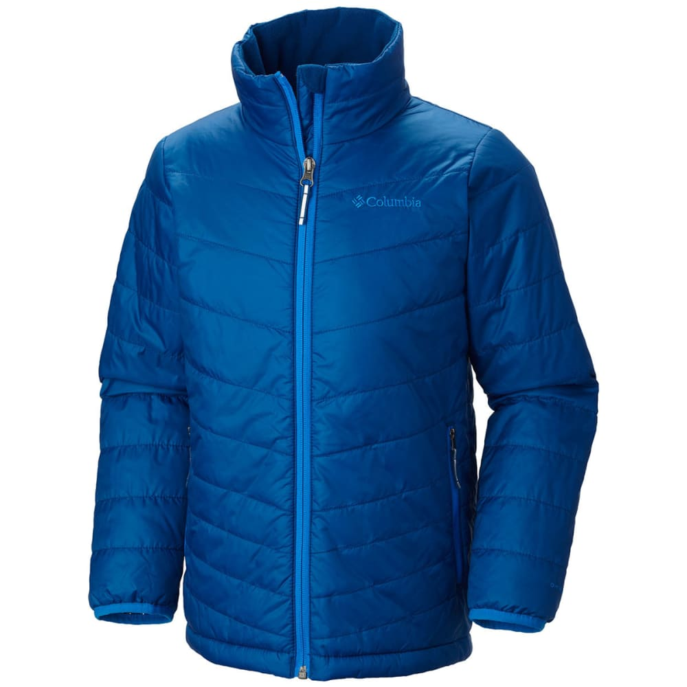 COLUMBIA Boy's Mighty Lite Jacket - MARINE